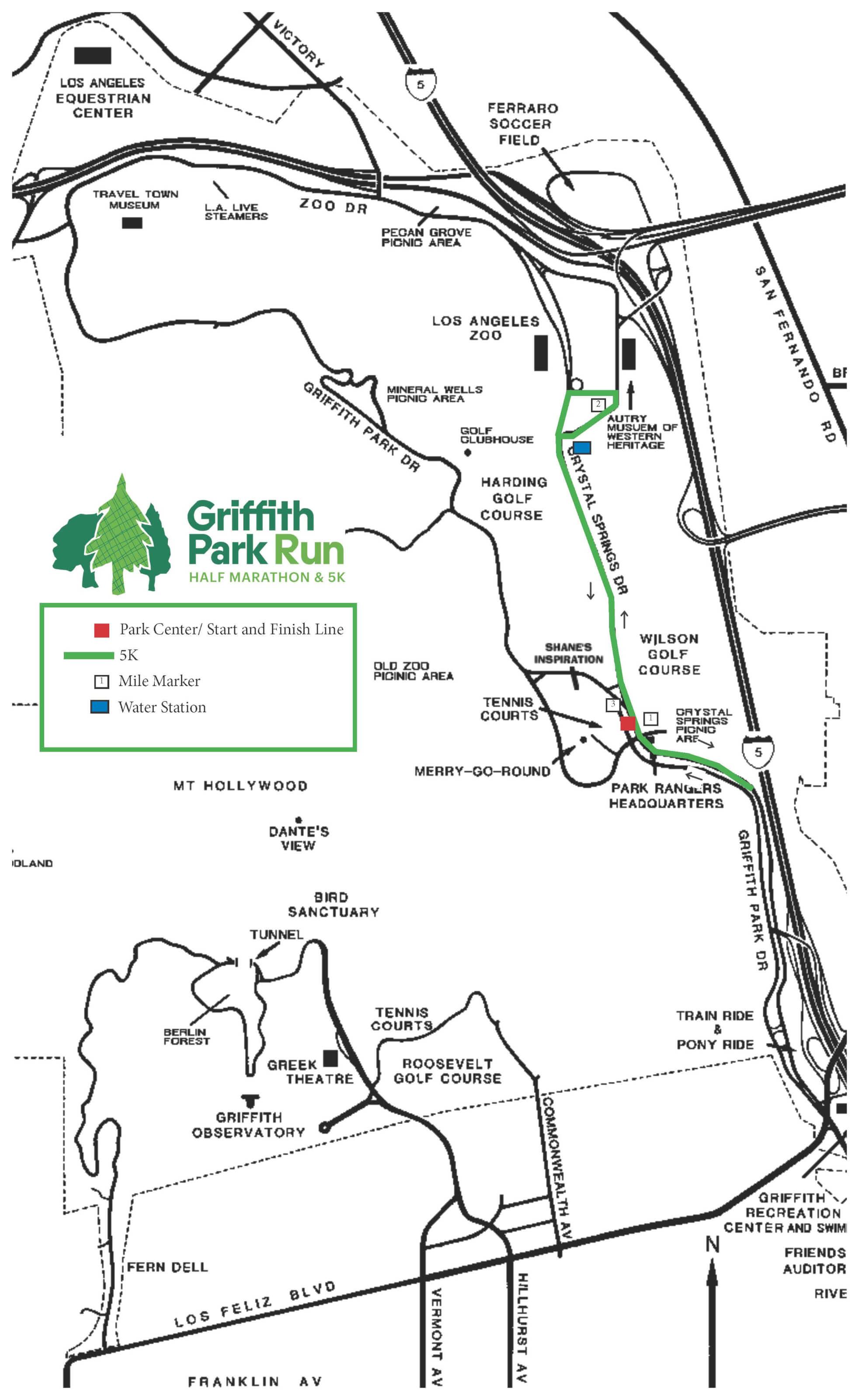 Griffith Park Los Angeles Map.2019 Griffith Park Half Marathon 5k Los Angeles Parks Foundation